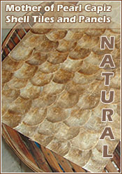 Natural mother of pearl capiz tiles and wall decor